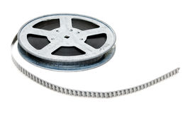 Aluminium reel of film Royalty Free Stock Image