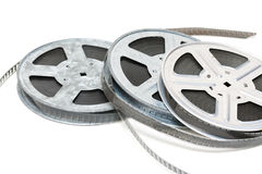 Aluminium reel of film Stock Image
