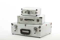 aluminium resväskor Arkivbild