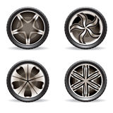 Aluminium rims set Royalty Free Stock Images