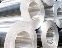 Aluminium rolls Stock Photography
