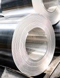 Aluminium rolls Stock Images