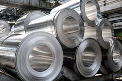 Aluminium rolls Royalty Free Stock Image