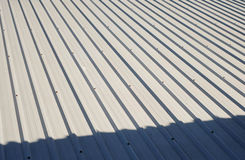 Aluminium roof. Royalty Free Stock Images