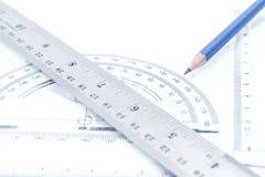Aluminium rulers stock photos