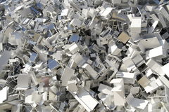 Aluminium scrap Stock Photo