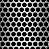 Aluminium seamless pattern wit round holes Stock Photography