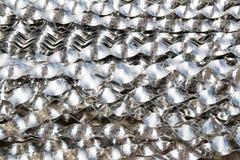 Aluminium spiraalvormige stroken Royalty-vrije Stock Afbeeldingen