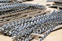 Aluminium spiraalvormige stroken Stock Afbeeldingen