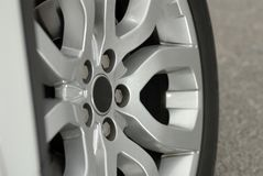Aluminium sport wheel detail Royalty Free Stock Photos