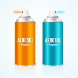 Aluminium Spray Can Template Blank. Vector Royalty Free Stock Photos