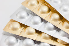 Aluminium strips of medical pills Royalty Free Stock Image