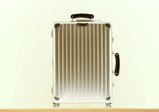 Aluminium suitcases Royalty Free Stock Photo