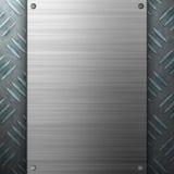 aluminium szczotkował diamentu talerza Zdjęcie Stock