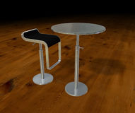 Aluminium Table And Chair Royalty Free Stock Image