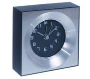 Aluminium table clock Stock Photo