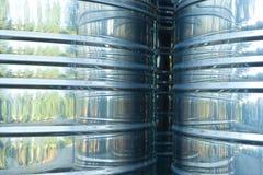 Aluminium tankar Fotografering för Bildbyråer