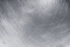 Aluminium texture background, scratches on stainless steel.  royalty free stock photo
