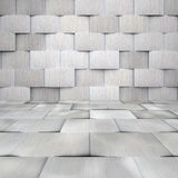 Aluminium Tiled Room Royalty Free Stock Image