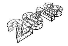 Aluminium trusses construction. 2016 aluminium trusses construction shape quaro. Render image Stock Image