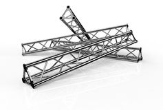 Aluminium trusses construction shape trio Stock Image