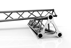 Aluminium trusses construction shape trio Stock Photography