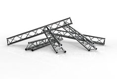 Aluminium trusses construction shape trio Royalty Free Stock Image