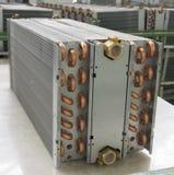 Aluminium värmeexchanger Arkivfoto