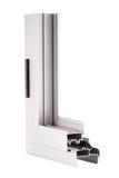Aluminium window sample Stock Image