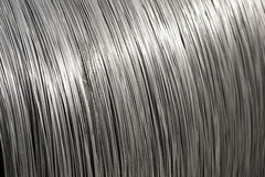 Aluminium wire spool texture Royalty Free Stock Photography