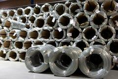 Aluminium wire spools Stock Images