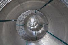 Aluminium spools Royalty Free Stock Image