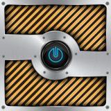 Aluminiuman-/aus-schalter, Technologiehintergrund lizenzfreie abbildung