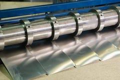 Aluminiumark och aluminiumklippmaskin fabrik royaltyfri fotografi