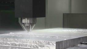 Aluminiumbilletoberflächenreinigung stock video