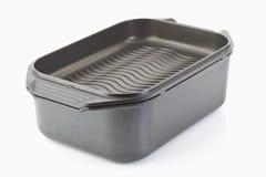 aluminiumcaststekpanna Arkivbild