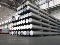 Aluminiumcilinders royalty-vrije stock foto