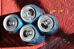 Aluminiumdosen für die Wiederverwertung Lizenzfreies Stockfoto