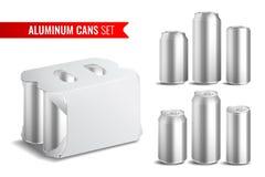 Aluminiumdosen-Ikonen-Satz lizenzfreie abbildung