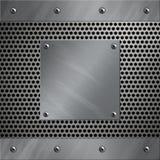 Aluminiumfeld und perforiertes Metall Lizenzfreie Stockfotos
