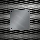 Aluminiumfeld und perforiertes Metall Stockbild