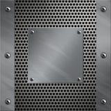 Aluminiumfeld und perforiertes Metall Stockfotos