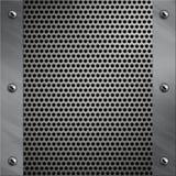 Aluminiumfeld und perforiertes Metall Lizenzfreie Stockbilder