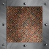 Aluminiumfeld und verrostetes Diamantmetall Lizenzfreie Stockbilder