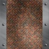 Aluminiumfeld und verrostetes Diamantmetall Lizenzfreie Stockfotos