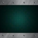 Aluminiumfeld verriegelte an eine blaue Kohlenstofffaser Lizenzfreie Stockbilder
