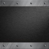 Aluminiumfeld verriegelte an eine Kohlenstofffaser Stockbild