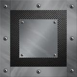 Aluminiumfeld verriegelte an eine Kohlenstofffaser Lizenzfreies Stockfoto