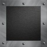 Aluminiumfeld verriegelte an eine Kohlenstofffaser Lizenzfreies Stockbild