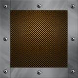 Aluminiumfeld verriegelte an eine Kohlenstofffaser Stockbilder
